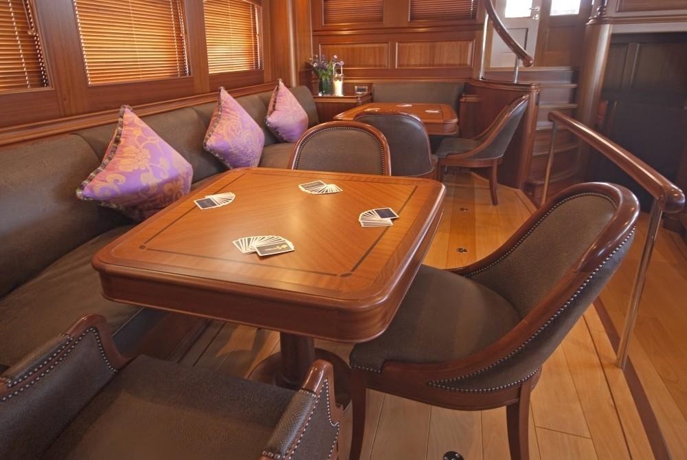 Card Furniture Aboard Yacht ATHOS