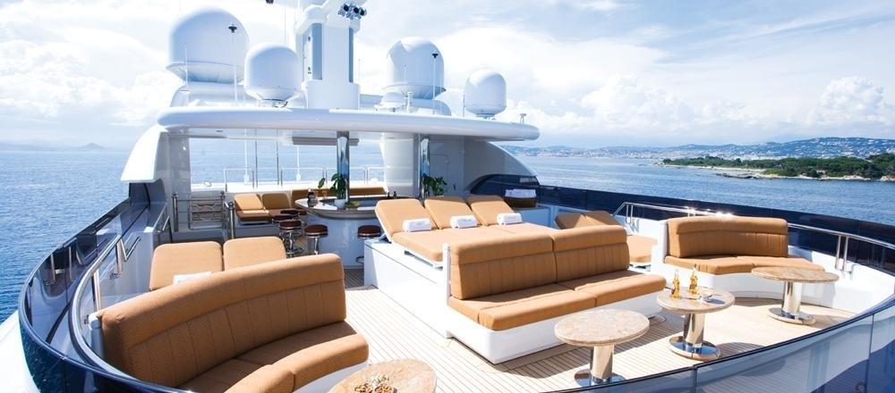 Sunshine Lounging On Board Yacht MARTHA ANN