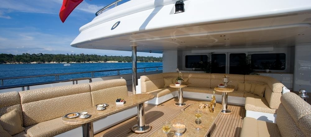 Premier Aft Deck On Board Yacht MARTHA ANN