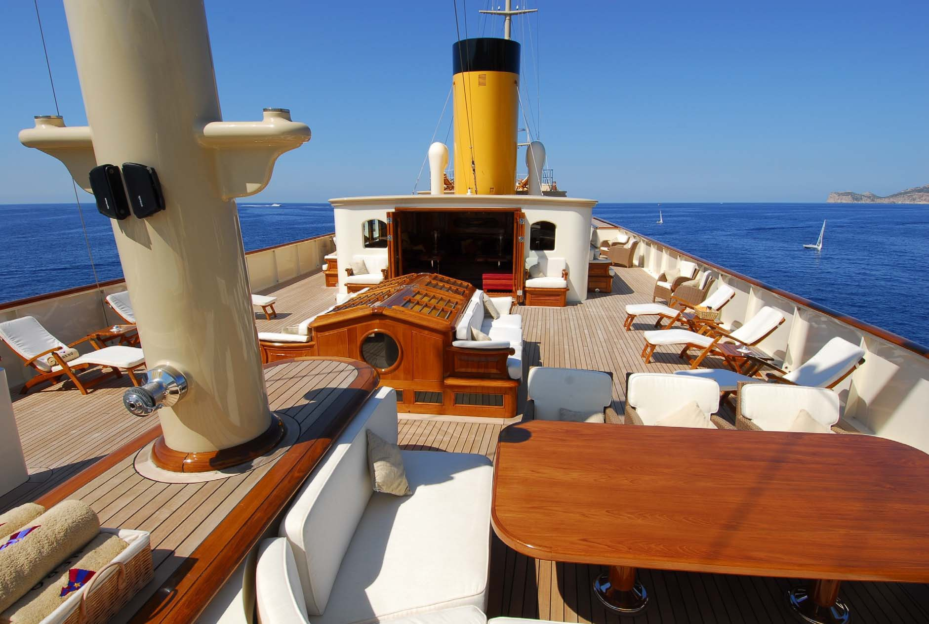 Aft Aspect: Yacht NERO's Sun Deck Photograph