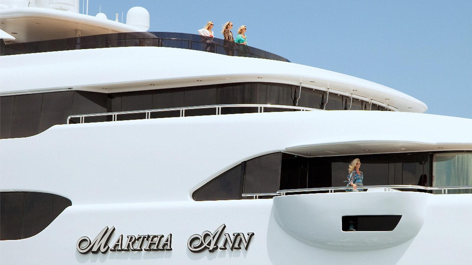 Aboard Martha Anna