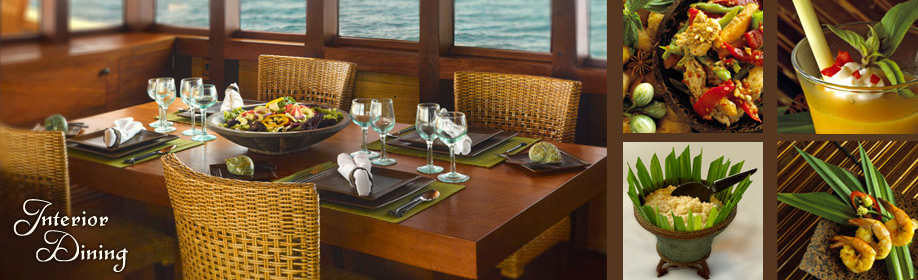 Interior Dining On Board SI DATU BUA