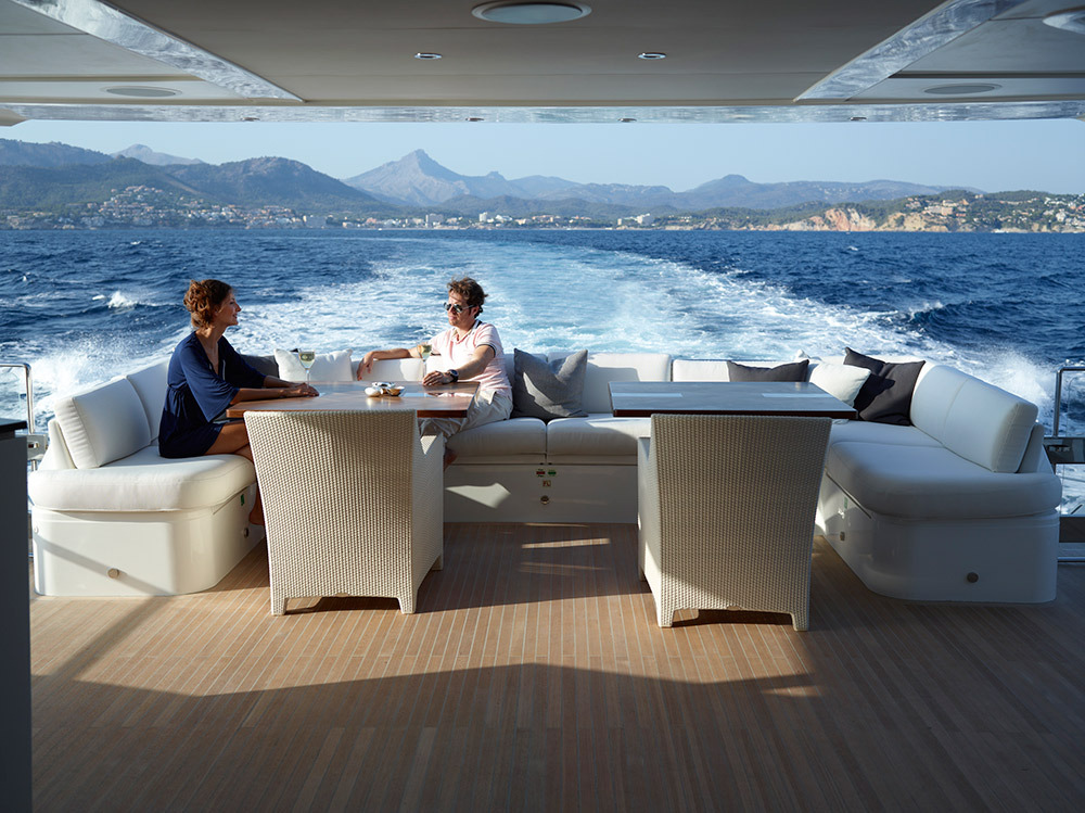 Motor Yacht IMPERIAL PRINCESS BEATRICE By Sunseeker - Aft Deck Socialising