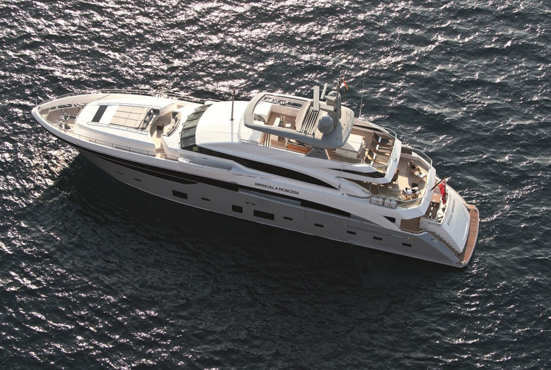 Motor Yacht IMPERIAL PRINCESS BEATRICE From Above