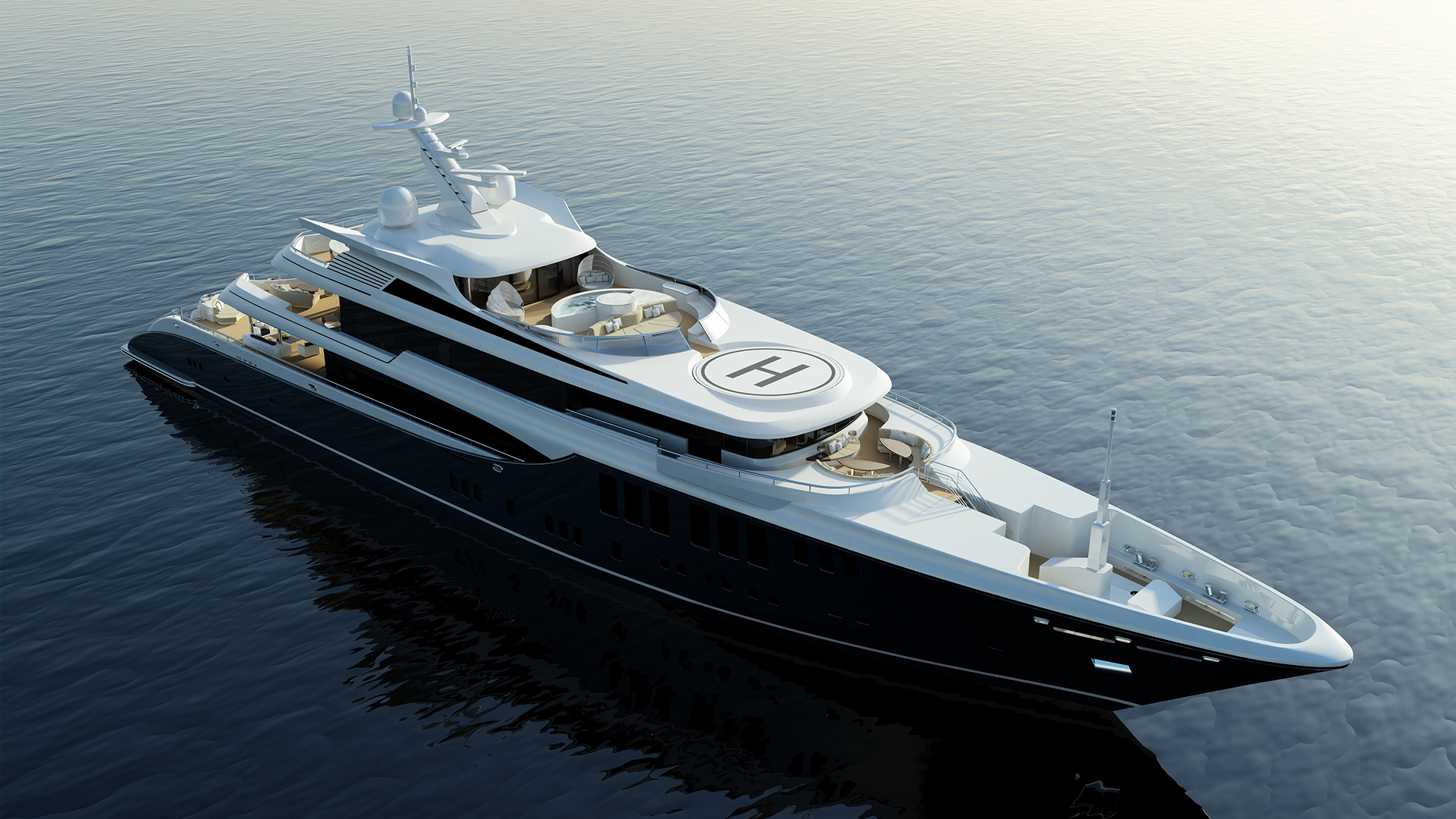Focus Yacht Design Image Gallery - 73m motor yacht Project