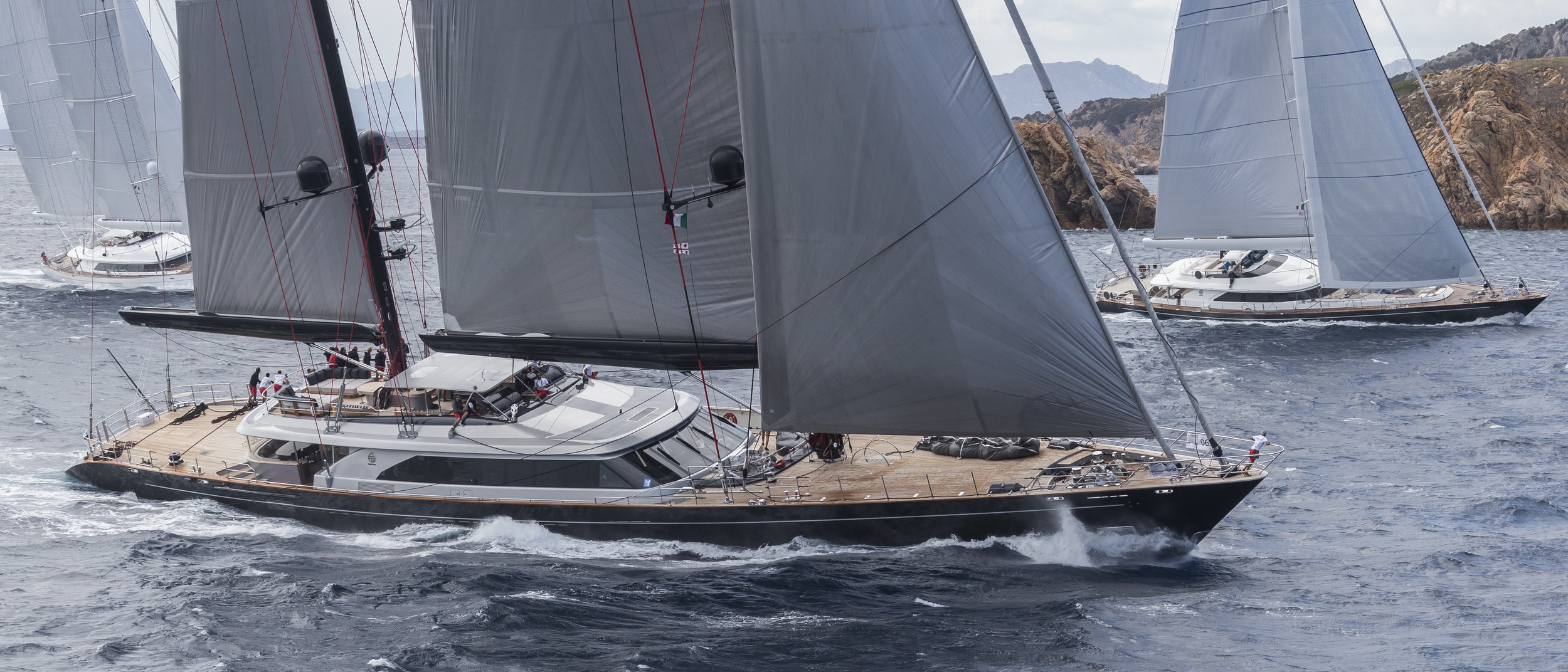 Sailing Superyachts At The Sailing Regatta Event