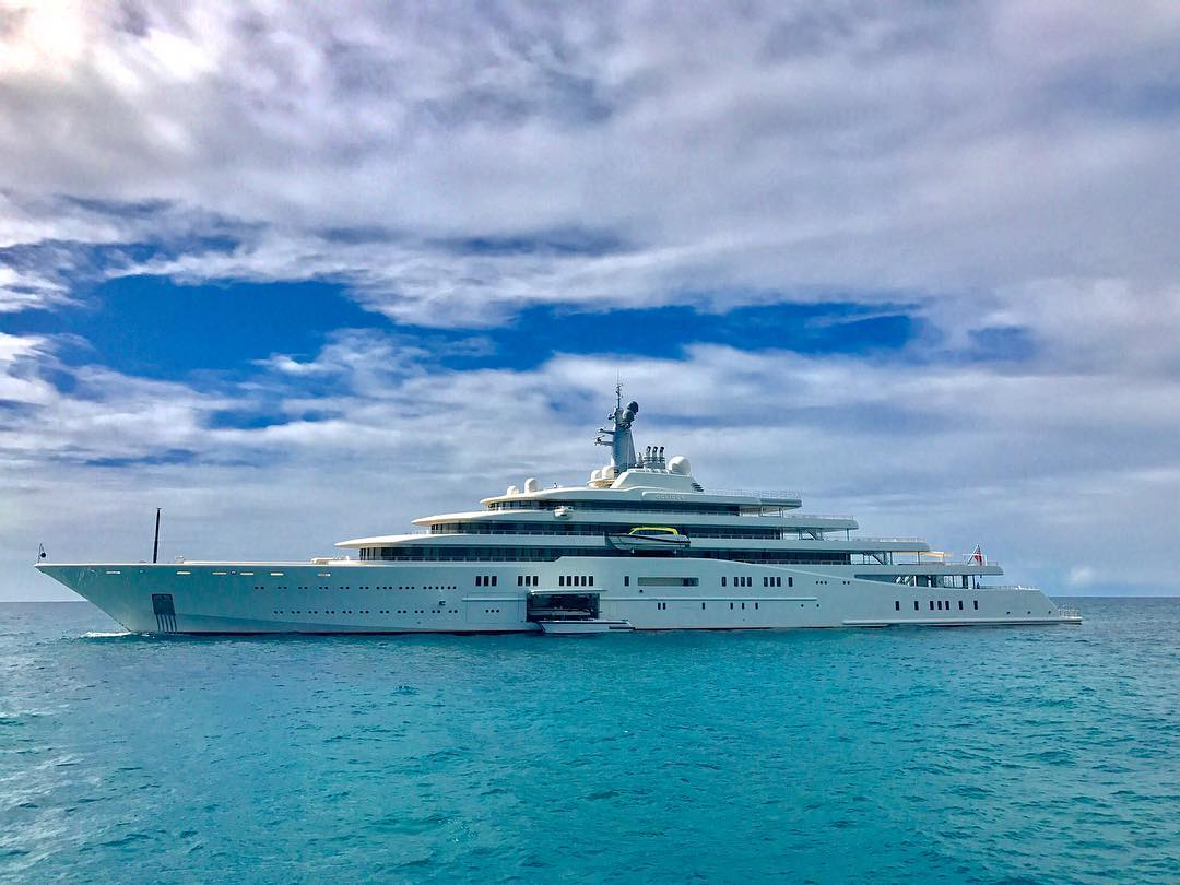 Yacht ECLIPSE In St Marten, Caribbean