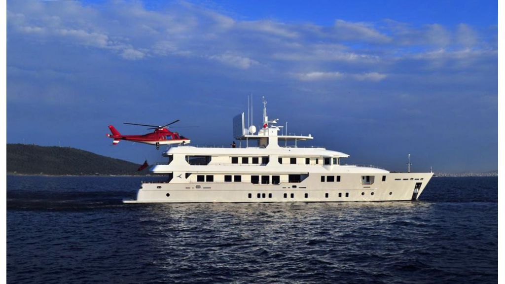 Yacht PALMARINA By Orkun - Profile With Helicopter