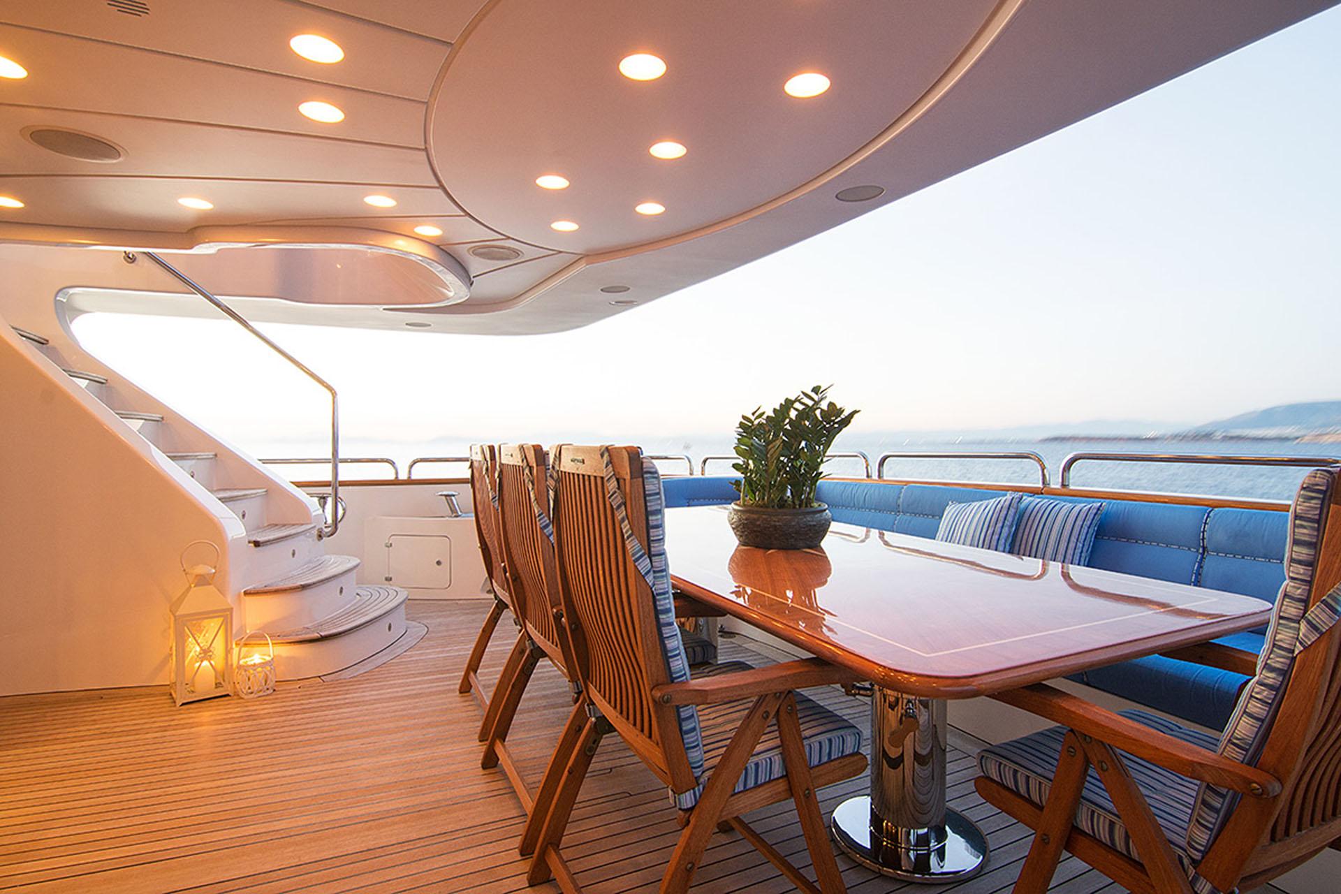 Aft Deck Dining Option Alfresco