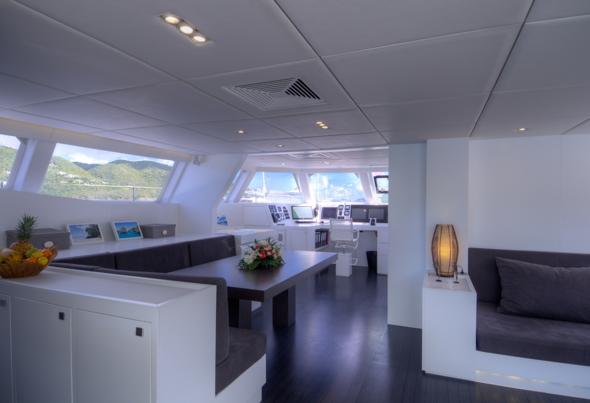 Sailing catamaran levante galley