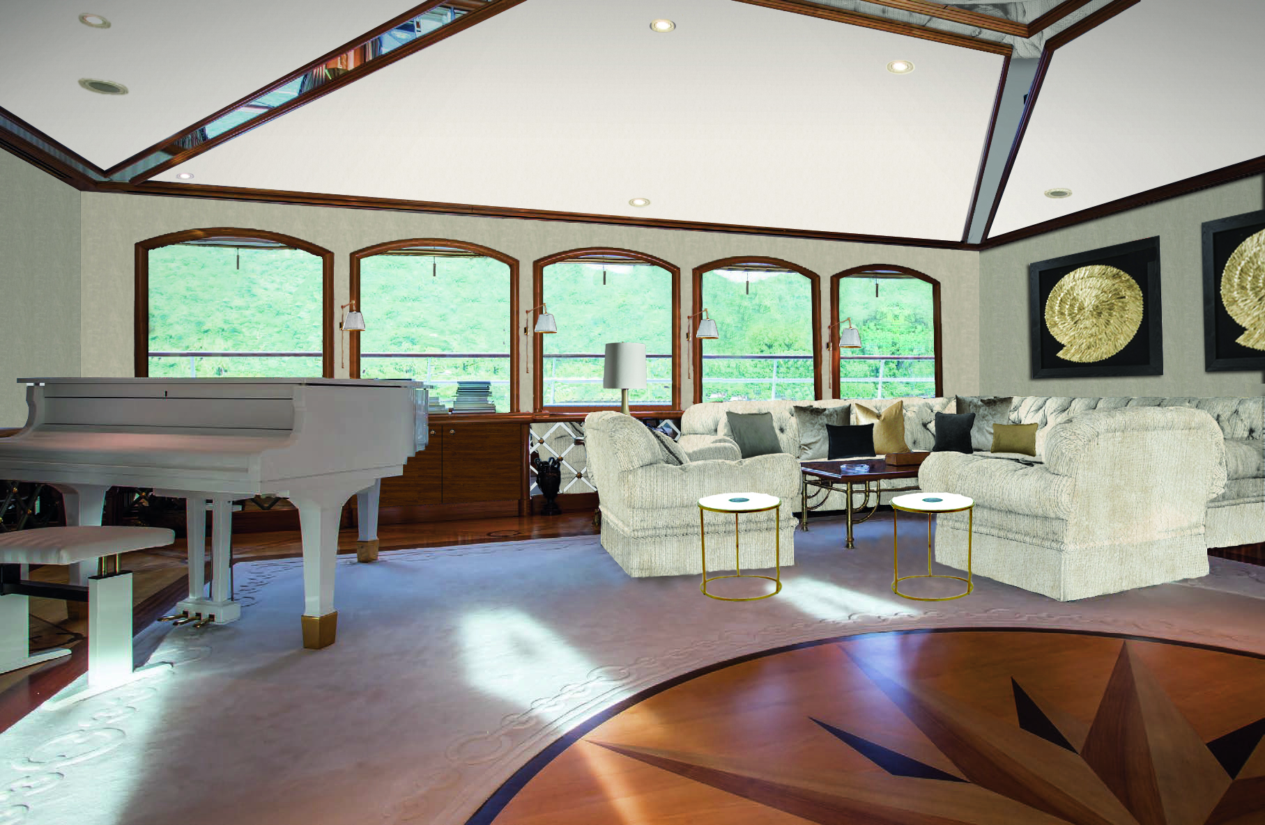 Saloon With Grand Piano