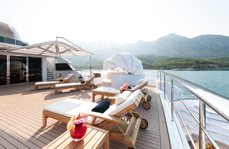 Sun Loungers On The Sun Deck