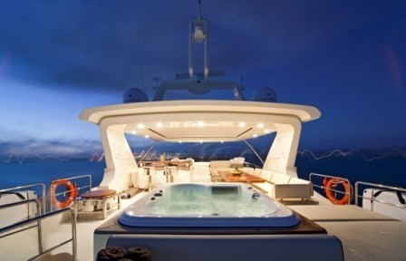 Jacuzzi Pool On Board Yacht ANDREIKA