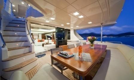 Al Fresco Eating/dining Aboard Yacht ANDREIKA