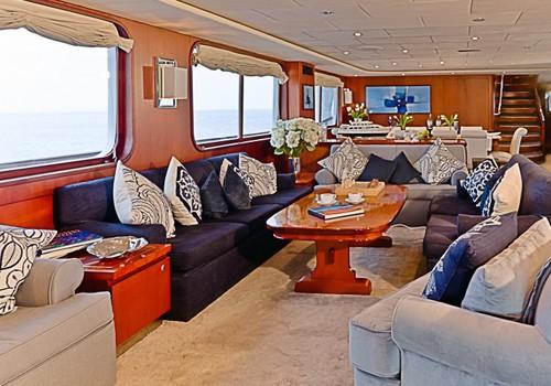 Saloon Aboard Yacht LIGAYA