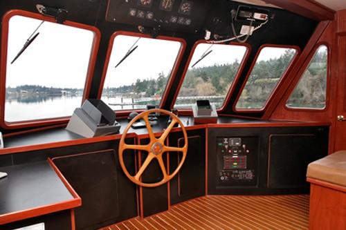 Pilot House On Board Yacht KAYANA