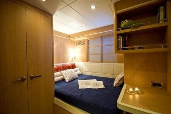 Blue Cabin Aboard Yacht ZELDA