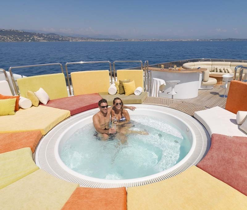 Life: Yacht SISTER ACT's Jacuzzi Pool Pictured