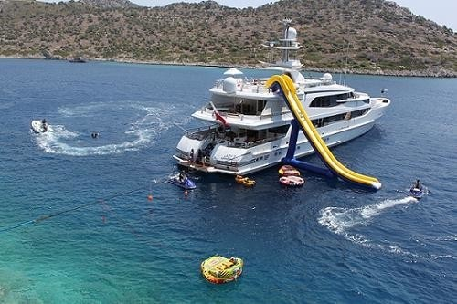 Water Toys On Board Yacht LAZY Z