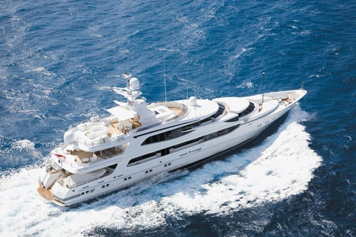 From Above: Yacht LAZY Z's Cruising Photograph