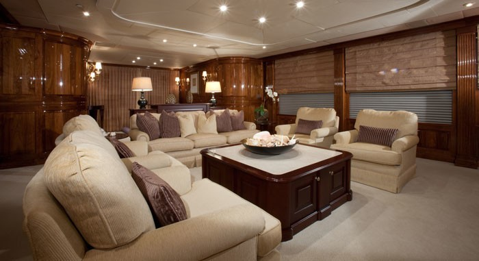 Saloon On Board Yacht ONE MORE TOY