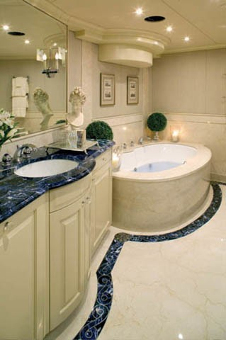 Main Master Bathroom Aboard Yacht ONE MORE TOY