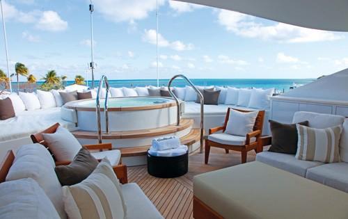 Sun Deck On Board Yacht COCKTAILS