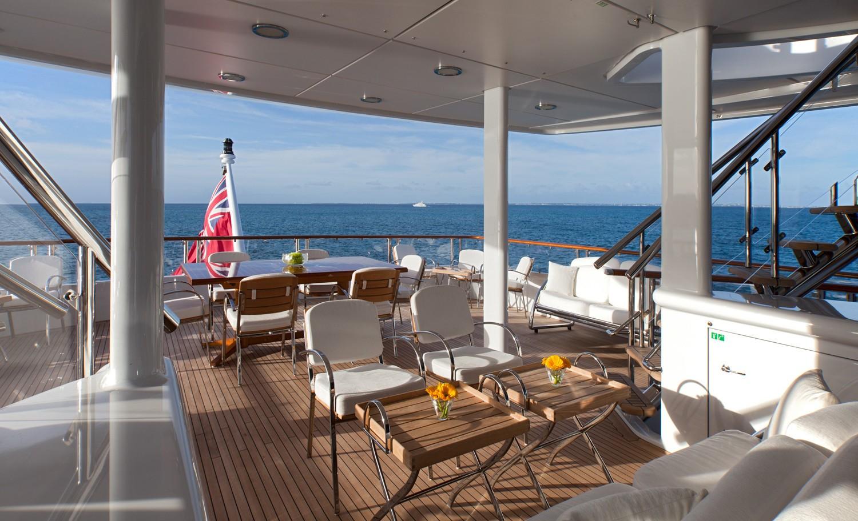 Aft Deck Sitting On Board Yacht SUNRISE