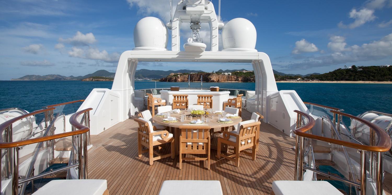 Sun Deck On Board Yacht SUNRISE