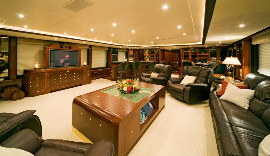 Screening: Yacht NOBLE HOUSE's Top Saloon Photograph