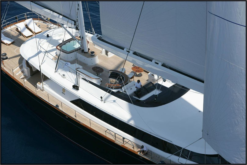 From Above Deck On Board Yacht PARSIFAL III