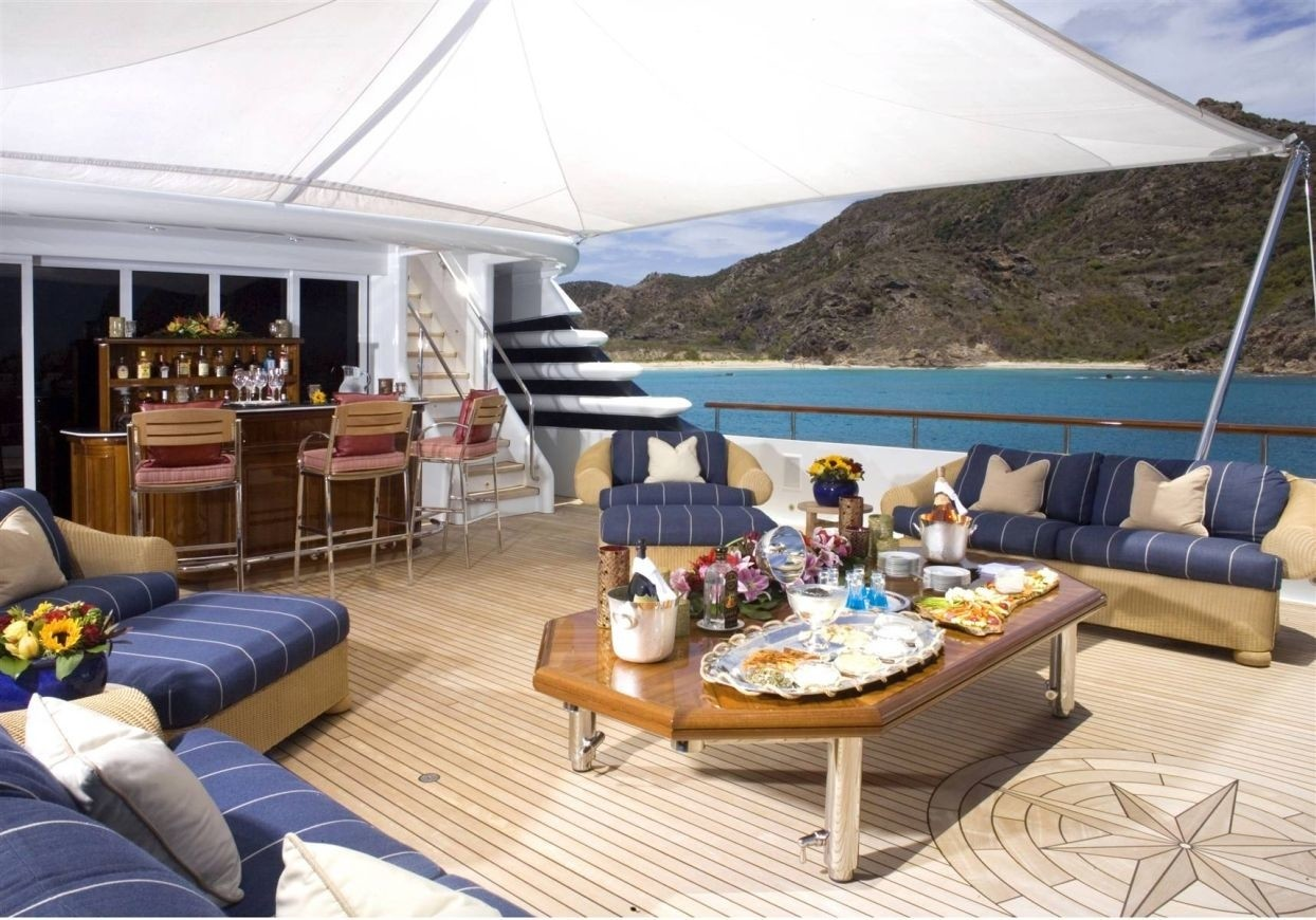 Aft Deck On Board Yacht PARAFFIN
