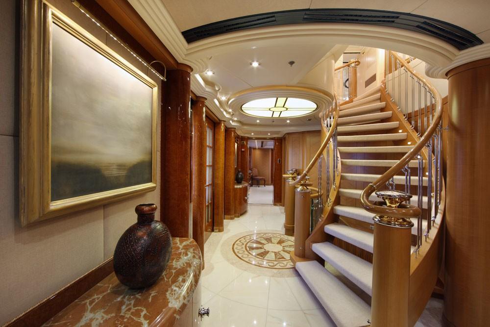 Stairway On Board Yacht CAPRI
