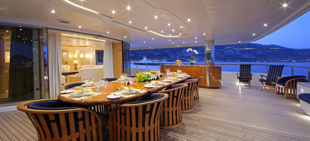Deck Eating/dining On Board Yacht CAPRI