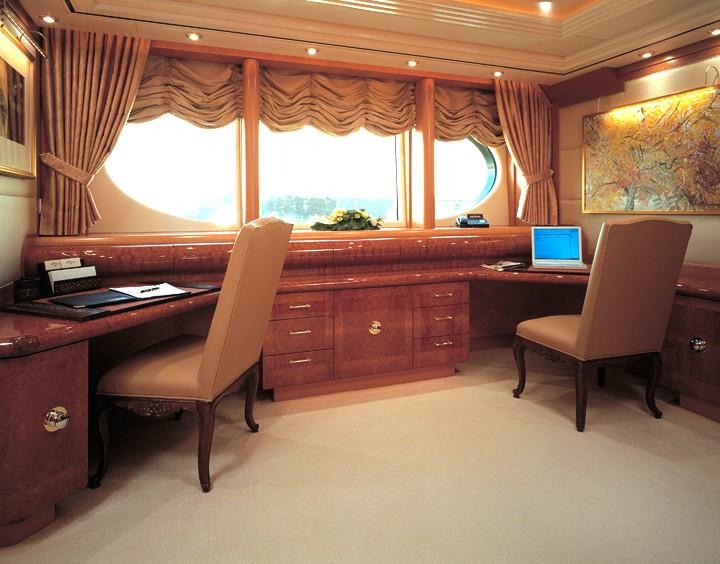 Office: Yacht CAPRI's Main Master Cabin Photograph