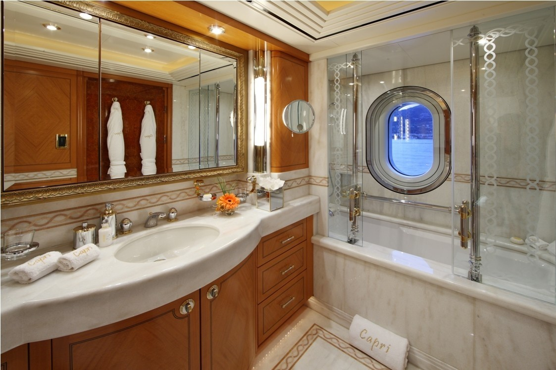 Second Guest's Bath Aboard Yacht CAPRI
