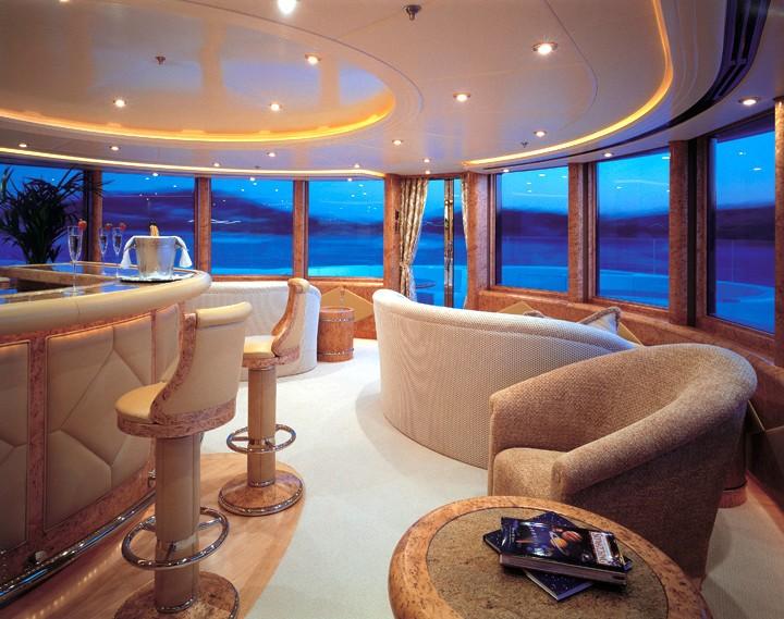 Drinks Bar Aboard Yacht CAPRI