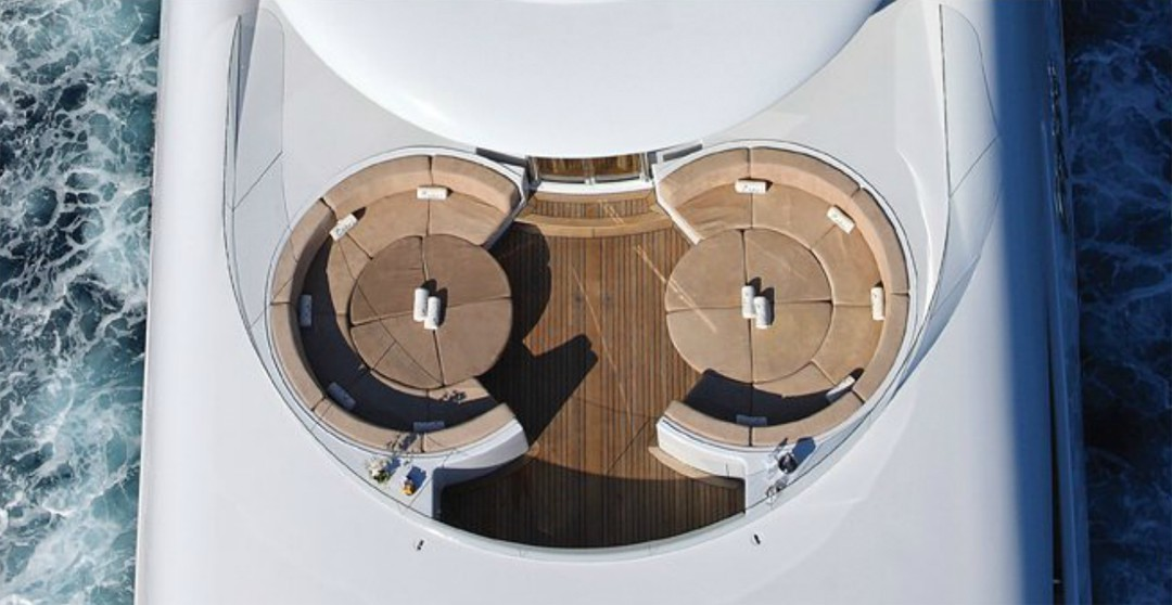 Circular Sitting: Yacht CAPRI's From Above Aspect Captured