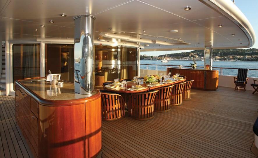 Deck Sitting Aboard Yacht CAPRI