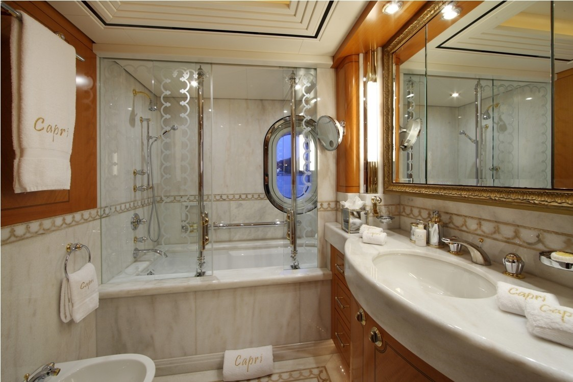 First Guest's Bath On Yacht CAPRI