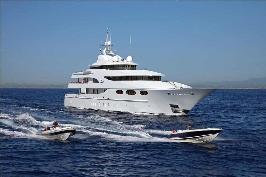 Forward Aspect Including Ship's Tenders On Board Yacht CAPRI