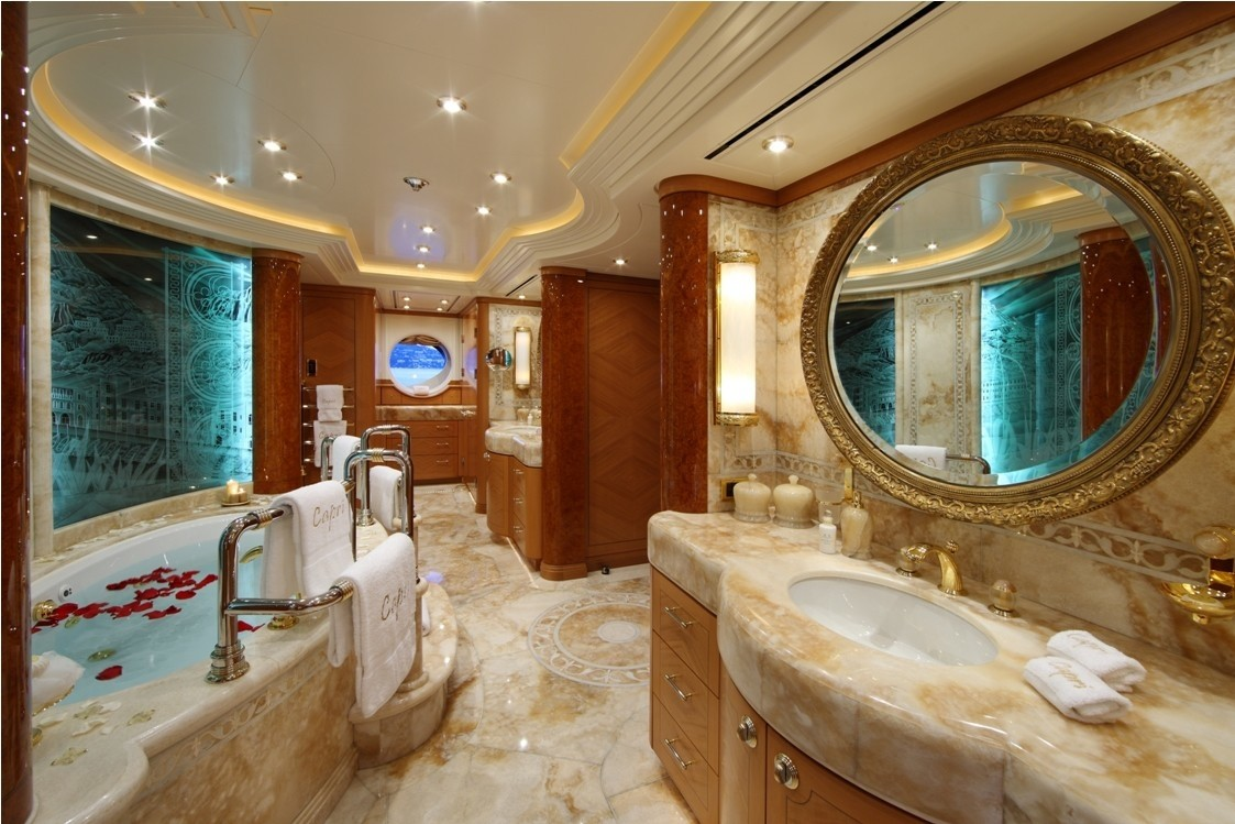 Main Master Bath On Yacht CAPRI