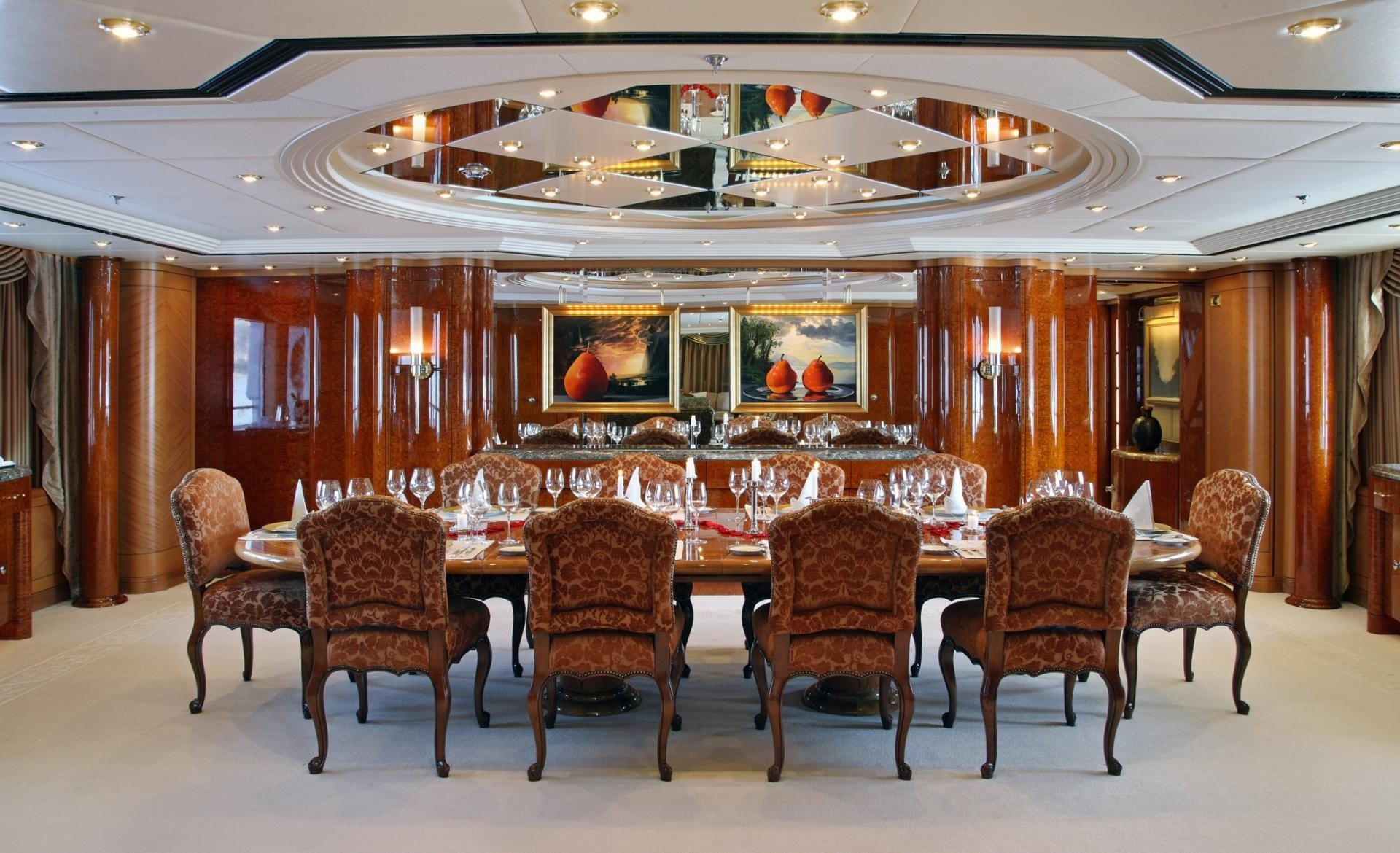 Furniture: Yacht CAPRI's Eating/dining Saloon Photograph