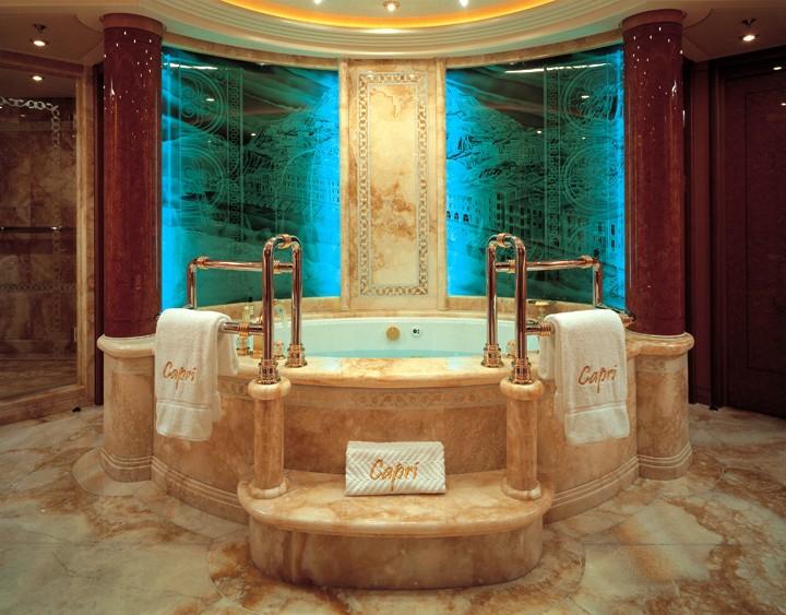 Main Master Bathroom On Board Yacht CAPRI