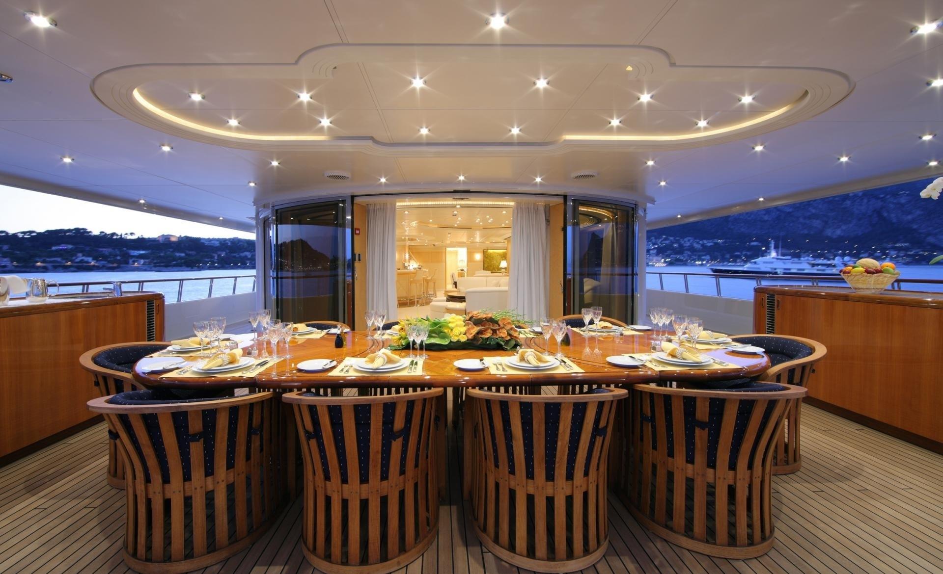 External Eating/dining On Yacht CAPRI
