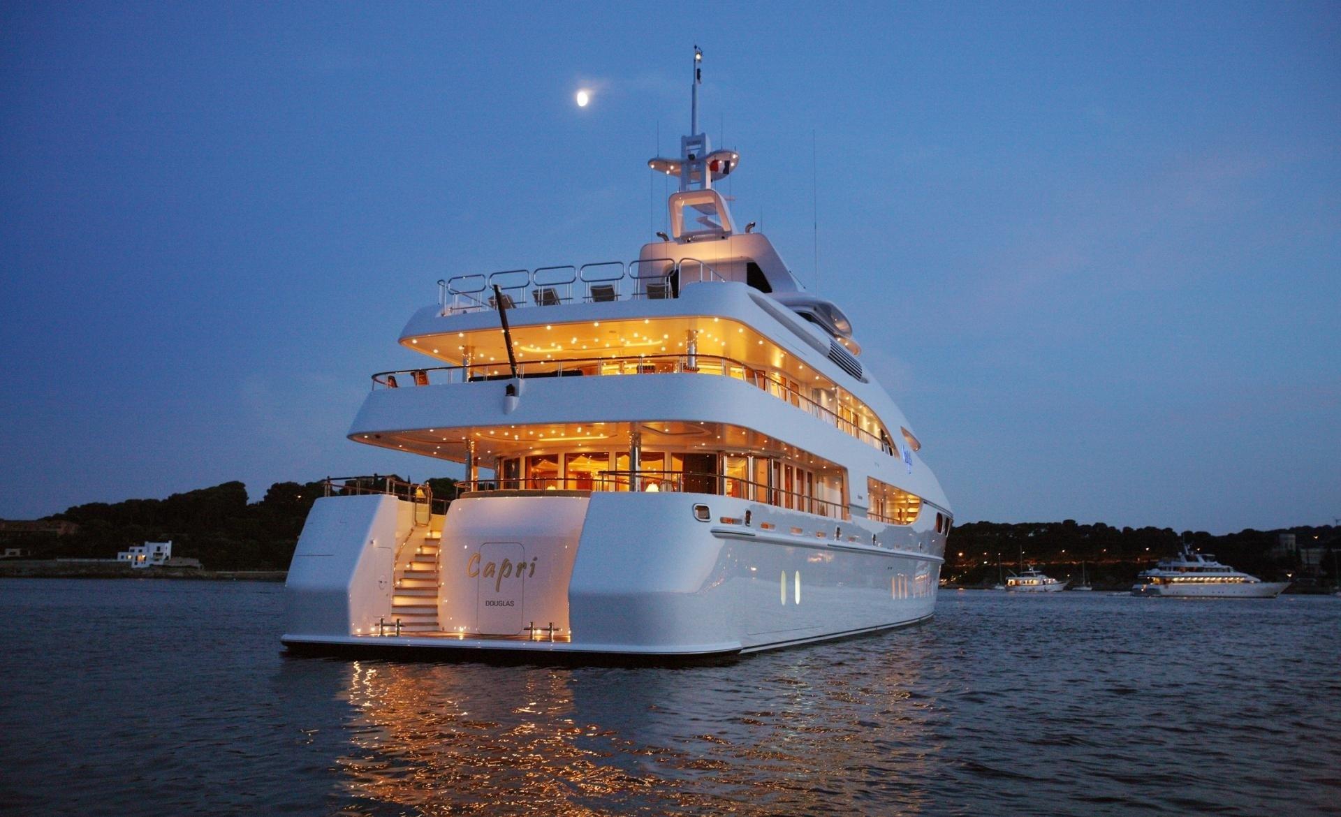 Evening: Yacht CAPRI's Aft Photograph