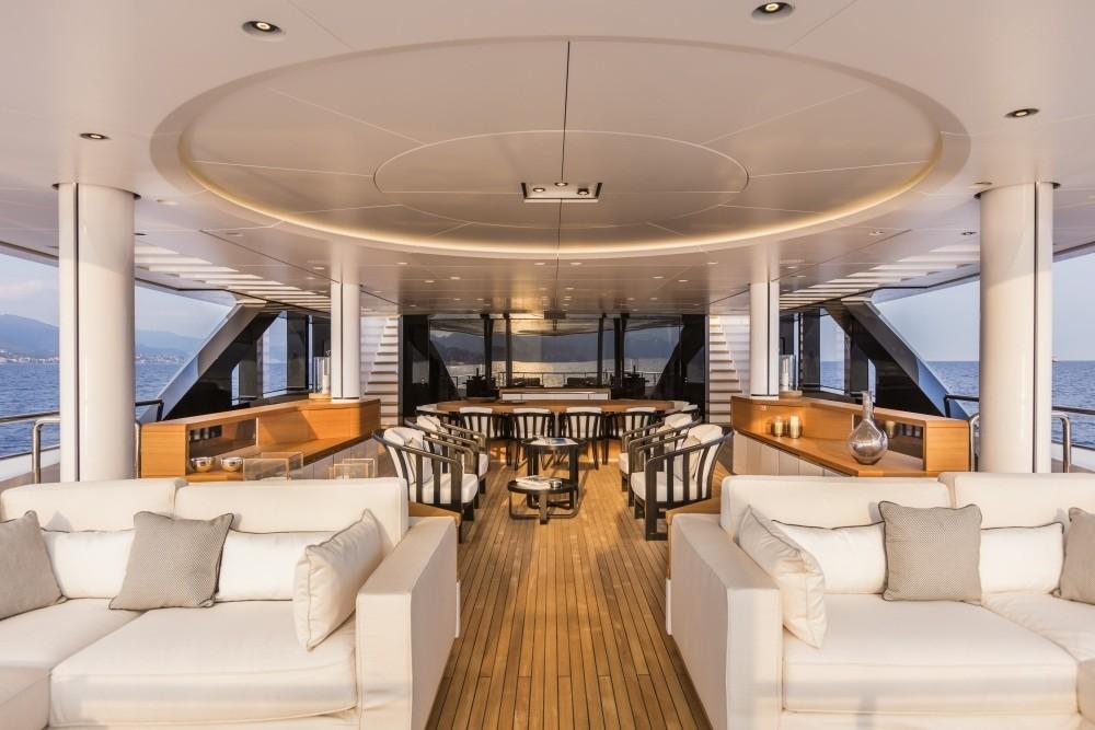 Top Deck Sitting On Board Yacht SUERTE