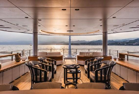 Top Deck Aft Aboard Yacht SUERTE