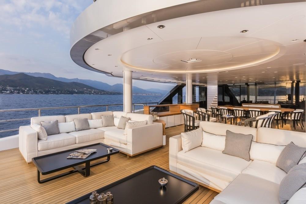 Top Deck Aft Sitting On Board Yacht SUERTE