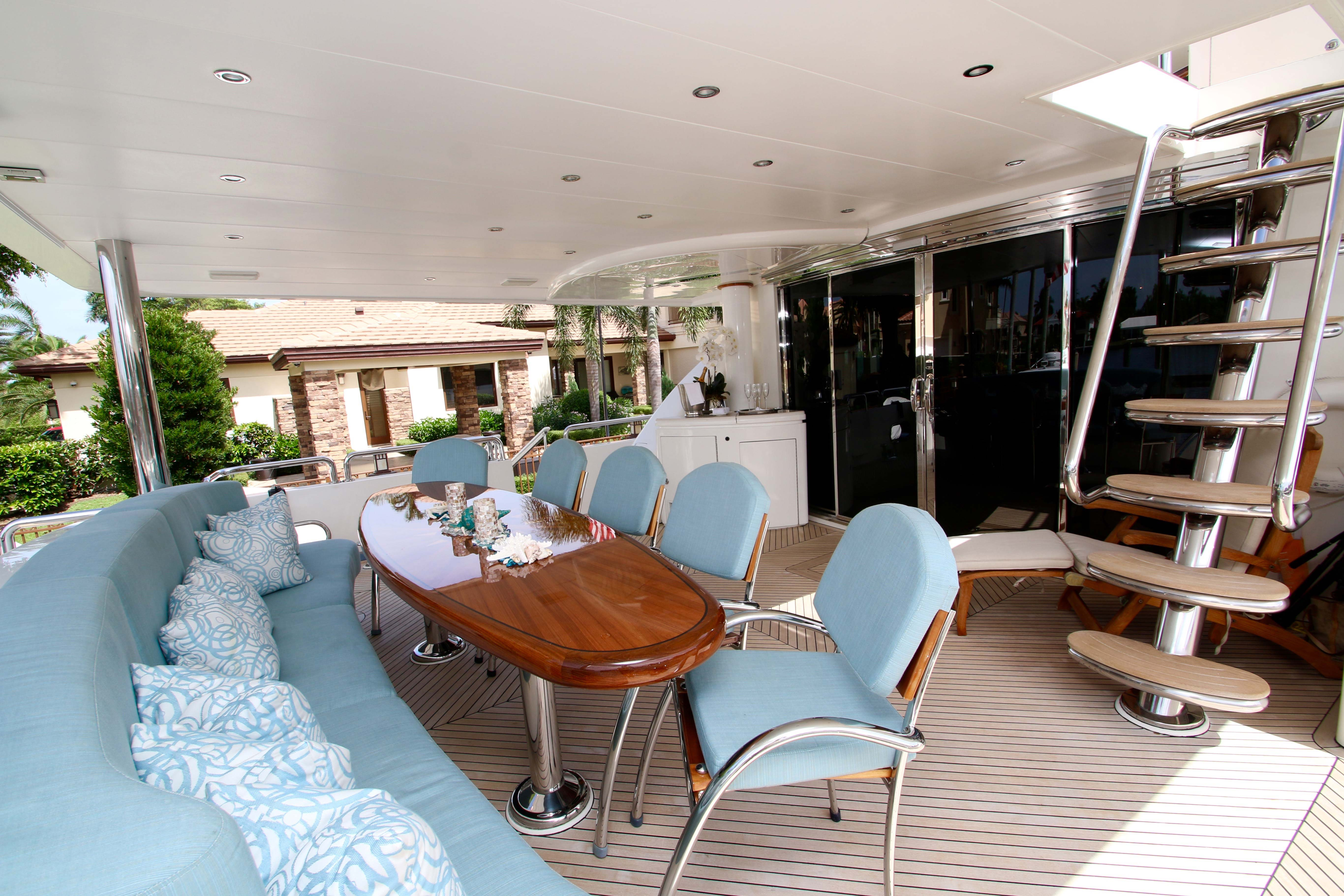 Exterior Dining On Aft Deck